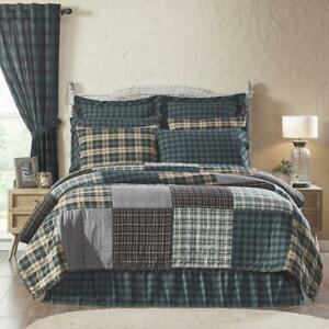 COUNTRY PRIMITIVE RUSTIC PINE GROVE PATCHWORK QUILTED COLLECTION