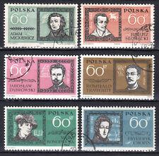 Poland - 1962 Personalities - Mi. 1312-17 VFU