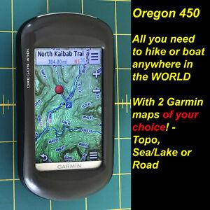 Garmin Oregon 450 for Boating Hiking + WORLDWIDE MAPS