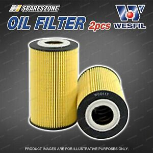 2 x Wesfil Oil Filters for Porsche 911 Carrera Boxster Cayenne S1 Cayman F6 24V