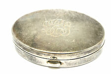 EARLY Vtg Modernist TIFFANY & CO Sterling Silver POWDER & MIRROR Compact SIGNED!