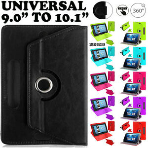 """9.6"""" To 10.1"""" Universal Rotate & Stand Flip Case Covers For All Android Tablets"""