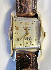Genuine Art Deco Men's Benrus 17J Curved Back Model BA2 Wrist Watch Huge Lugs