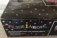 NEW-FLEXINEON 40 MULTI FUNCTION LED COLOUR ICICLES LIGHTS 8FUNCTION CONTROL BOX