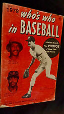 1979 Who's Who in Baseball 64th Edition 02-736 BEST OFFER Flat Rate Shipping USA