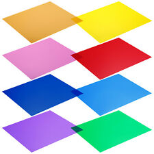 "Neewer 8Pcs 12""x12"" Filters Transparent Color Correction Lighting Gel Filter Set"