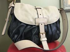 NWOT MARC JACOBS SOPHISTICATO DANI LEATHER TWO TONE BLACK/CREAM CROSS BODY BAG