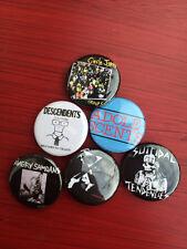 "1.25"" LA Hardcore pin back button set of 6 Descendents Circle Jerks Adolescents"