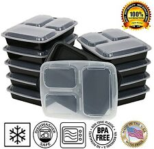 Lunch Box Sets / Large Food Container with Lid / 3 Compartment Bento Box Type
