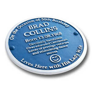 """Personalised Blue Heritage Plaque 12"""" By The Metal Foundry"""