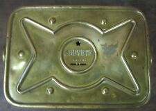 Old BREVETE Small Brass Foot Hand Warmer France Stone Coal Heater