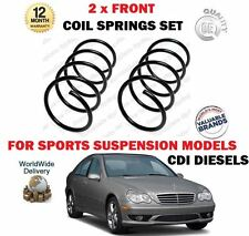 FOR MERCEDES C200 C220 CDI AVANTGARDE 2000-2007 NEW 2 X FRONT COIL SPRINGS SET