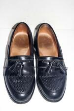 Mens ALLEN EDMONDS Cody Black Leather Tassel Oxford Shoes Size 11 D