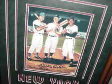 MICKEY MANTLE  WILLIE MAYS DUKE SNIDER signed AUTO matted/framed PHOTO 24X20 coa