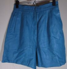 ~ Vintage ~ Estel's by Sunrise Beach Turquois 100% Soft Leather Shorts Medium M