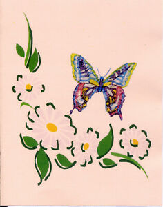 PK OF 20 BUTTERFLY WRITING PAPER WITH NO ENVELOPES FREE POSTAGE