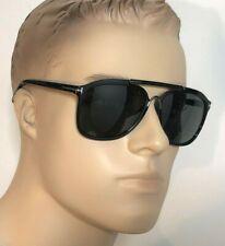 50% OFF TOM FORD CADE Men Women Square Pilot Sunglasses BLACK GREY 0300 01A 58