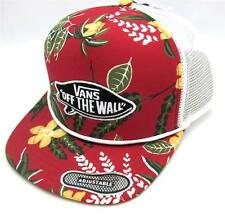 Vans Off The Wall Surf Patch Adjustable Trucker Hat Mens Tropical Red Cap NWT