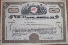 'Fairchild Engine and Airplane Corporation' 1954 Stock Certificate - Md Aviation