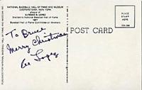 Al Lopez Autographed/Signed Hall of Fame Plaque