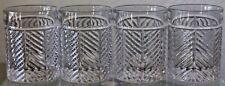 RALPH LAUREN HERRINGBONE DOUBLE OLD FASHIONED GLASSES SET OF 4 CRYSTAL NEW