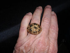 "Park Lane Jewelry, ""SPIKE"" Ring, Size 9, Topaz Crystals, Goldtone, NEW!!!"
