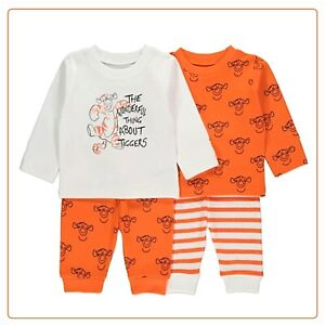 Disney Baby Boys Winnie The Pooh Tigger Character Pyjama 2 Pack 3-9 Months BNWT