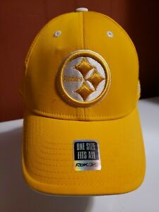Pittsburgh Steelers Adjustable Strap Back Yellow Hat NFL