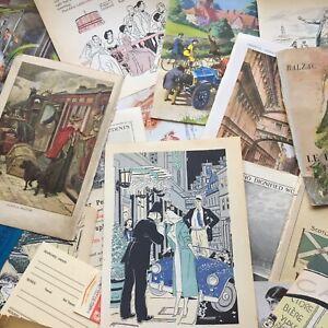 Junk journal vintage scrapbook Illustrations - 20 Items