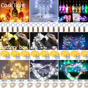 Battery/USB Plug In 200LED DIY Micro Copper Wire Fairy String Lights Christmas