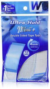 Walker Tape Ultra Hold Minis Adhesive Tape Klebe Strips 72 Pack für Haarsysteme