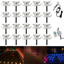 20pcs RGB Multicolor 31mm 12V Garden Home Floor Decor Path Stair LED Deck Lights