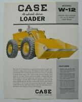 CASE Loader W-12 1960s dealer sheet brochure - English - USA
