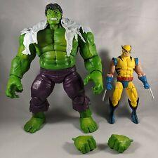 Loose Hasbro Marvel Legends 80th Anniversary Hulk and Wolverine Figures
