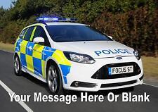 Personalizzata A4 CAKE TOPPER commestibile glassa foglio Auto della polizia