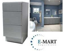 """12"""" European Style 3 Drawers Bathroom Vanity Plywood Cabinet Grey Cotton Patter"""
