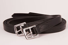 Black PVC Webbing Stirrup Leathers