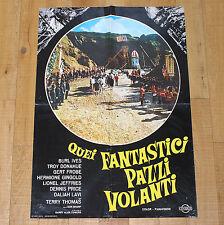 QUEI FANTASTICI PAZZI VOLANTI manifesto poster Jules Verne's Rocket to the Moon