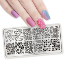 Born Pretty Nail Stamping Plates Rose Flower Image Decor Valentine's Day BP-L001