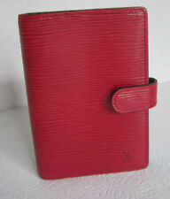 LOUIS VUITTON AGENDA - DAY PLANNER - RED EPI LEATHER CA0916