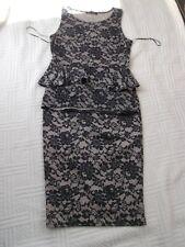 Select      size  12      BLACK LACE  PRINT  JERSEY  2 piece  DRESS