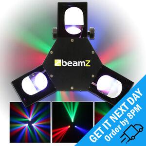 BeamZ Triple Flex Centre Pro RGB LED DJ Disco Scanner Strobe DMX Light Effect
