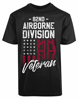 82ND Airborne Division Veteran New Mens Shirt American Flag Air jet Fighter Tee