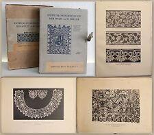 Dreger Die Entwicklungsgeschichte der Spitze 1910  99 Tafeln und Textband xz