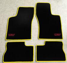 Autoteppich Fußmatten für Opel Kadett E Cabrio 16V 1986-1993 gelb rot 4teilg Neu