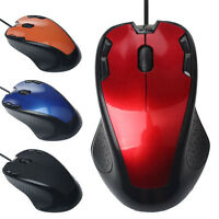 Luxury 1800DPI Adjustable Dual USB Wired Optical Gaming Mice Mouse For PC Laptop