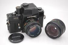 [EXC+5] MINOLTA X-1 SLR & MD ROKKOR 50mm F/1.7 & MD W.ROKKOR 28mm F/3.5 Japan