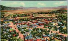 RATON, New Mexico  NM   Birdseye from GOAT HILL  c1940s Linen   Postcard