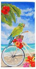 Summer/Beach/Sauna/Holiday Towel Velour Beach/Bath Towel 75x150cms Parrot