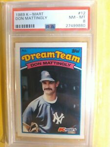 1989 Kmart Dream Team Don Mattingly Baseball Card PSA 8